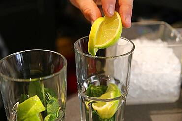 Mojitos Cocktail, Bar.
