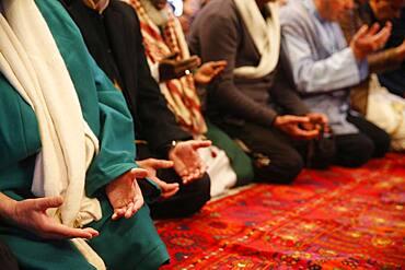 Naqshbandi Sufis praying.