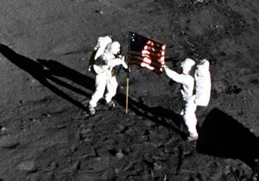 Apollo 11, American Flag on the Moon, 1969