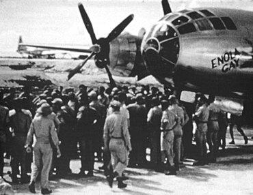 WWII, Enola Gay, Hiroshima Bomb Mission, 1945
