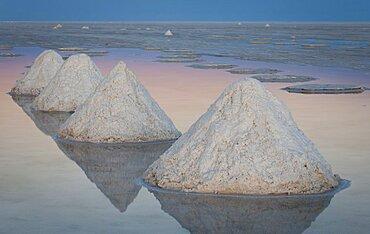 Salt Cones on the Salar de Uyuni, Bolivia