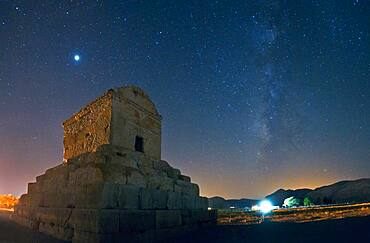 Tomb of Cyrus with Milky Way and Jupiter