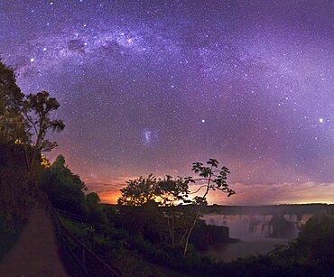 Starry Sky Above Iguazu Falls