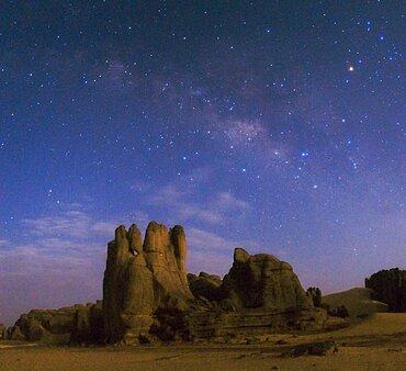Night Sky Above the Sahara