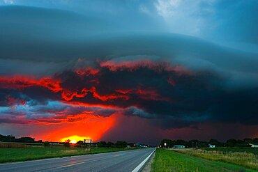 Stormy Nebraska Sunset