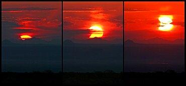Partial Solar Eclipse, Touran National Park, Iran