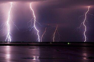 Missouri River Flood Lightning
