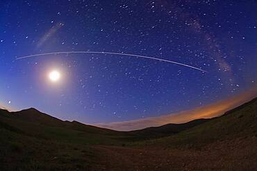 International Space Station Crossing the Sky