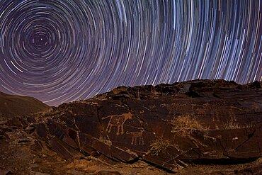 Star Trails and Petroglyphs