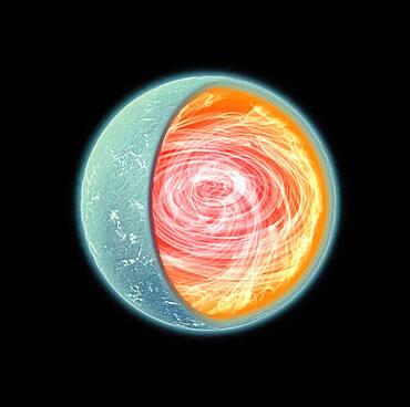 SGR 0418, Magnetar, Illustration