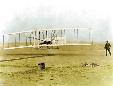Wright Flyer, First Flight, 1903