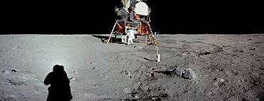 Apollo 11, Armstrong Photographing Aldrin, 1969