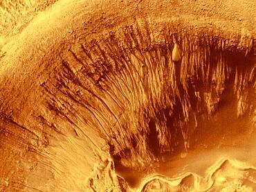 Mars, Newton Crater, MOC Image