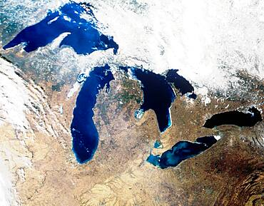 Satellite image of the Great Lake region