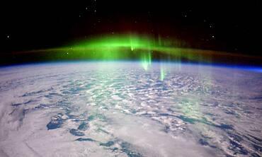 Aurora Borealis, ISS Image, 2016