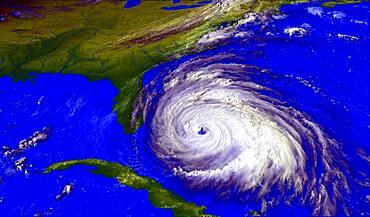 Hurricane Floyd, GOES Image, 1999