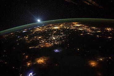 Sunrise over Western United States