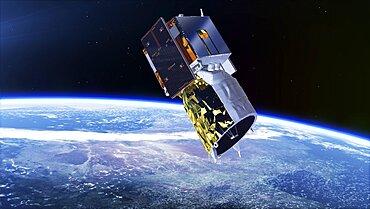ADM-Aeolus satellite, illustration