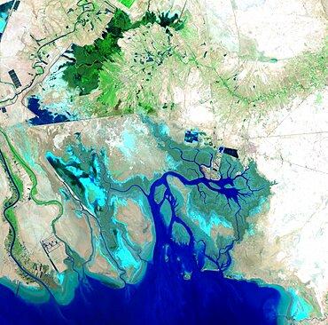 Northern Persian Gulf, satellite image