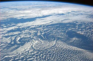 Karman Vortex Cloud Streets From Space