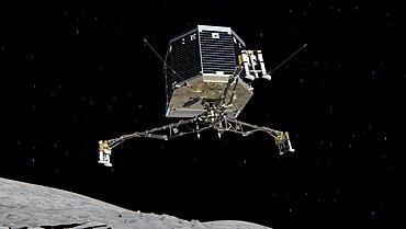 Philae Lander Descending to Comet 67P/C-G