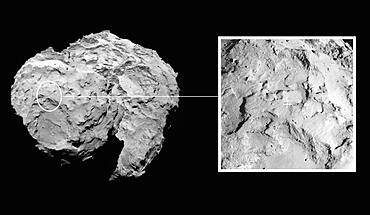 Landing Site on Comet 67P/C-G in Context