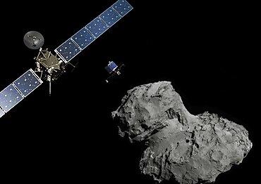 Rosetta And Philae Lander at Comet 67P/C-G