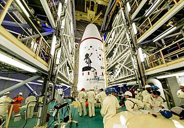 Gaia Space Observatory Hoisted At Launch Pad