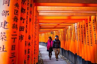Torii gates at Fushimi Inari-Taisha sanctuary,Kyoto, Japan