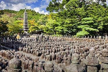 Adashino Nenbutsu dera temple, Arashiyama Sagano area,Kyoto. Kansai, Japan.