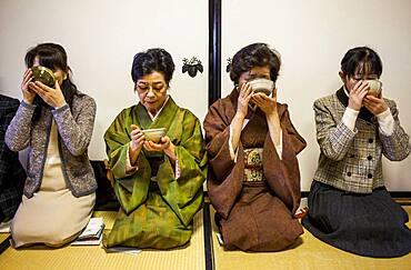 Tea ceremony, in Cyu-o-kouminkan, Morioka, Iwate Prefecture, Japan