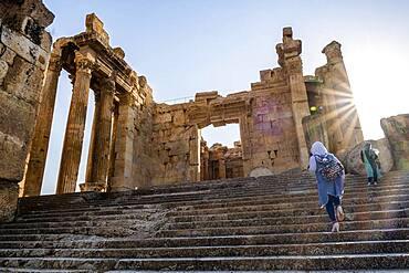Entrance, Temple of Bacchus, Baalbeck, Bekaa Valley, Lebanon