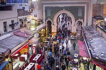 Bab Bou Jeloud gate, medina,Fez.Morocco