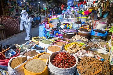 market, spice shop, medina, Fez. Morocco