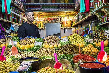 Pickle store, medina, Fez. Morocco