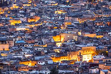 Roofs of the medina, Fez. Morocco