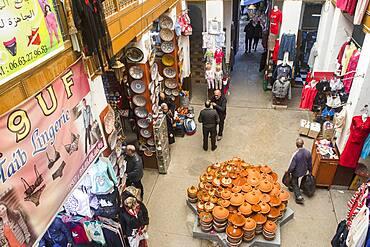 Shops, in Maristane Sidi Frej,  medina, Fez. Morocco