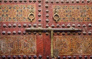 Detail, Door of Zaouia Sidi Ahmed Tijani, medina, Fez.Morocco