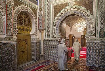 Zaouia (tomb) of Moulay Idriss II, medina Fez. Morocco