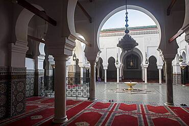 Courtyard, Zaouia (tomb) of Moulay Idriss II, medina, Fez. Morocco