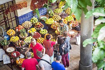 Fruits and vegetables area, Mercado dos Lavradores,Funchal,Madeira, Portugal
