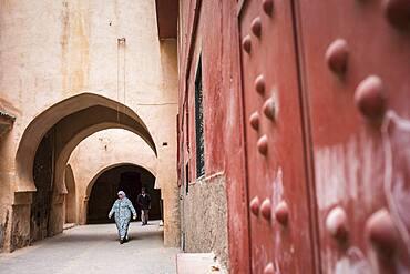 Street scene, Medina, Meknes. Morocco