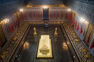 Interior of Mausoleum of Mohammed V, Rabat, Morocco