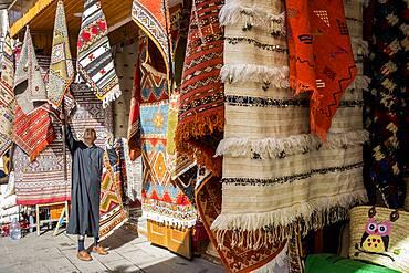 Souk of carpets, medina, Rabat. Morocco