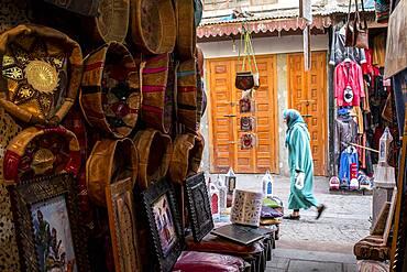Leather souk, medina, Rabat. Morocco