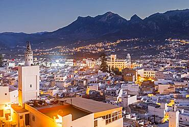 In the foreground the medina, and in background the Ville Nouvell or new city, Tetouan. Morocco