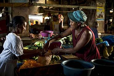 Greengrocery, market, Morondava, Madagascar