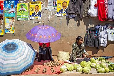 Food market of Ambohimahasoa city, Madagascar