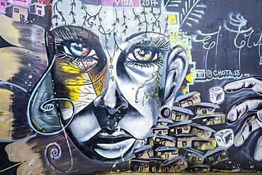`Orion operation´ by Chota, Street art, mural, graffiti, Comuna 13, Medellín, Colombia