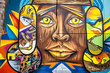 Street art, mural, graffiti, Comuna 13, Medellín, Colombia